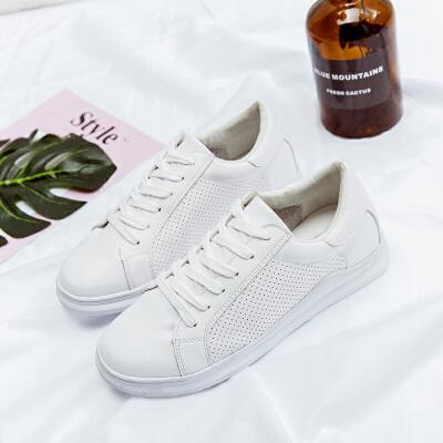 春夏低帮鞋女板鞋2018年款百搭学生ins透气白色休闲系带舒适女鞋   走进大自然的怀抱,美丽从这里起步。