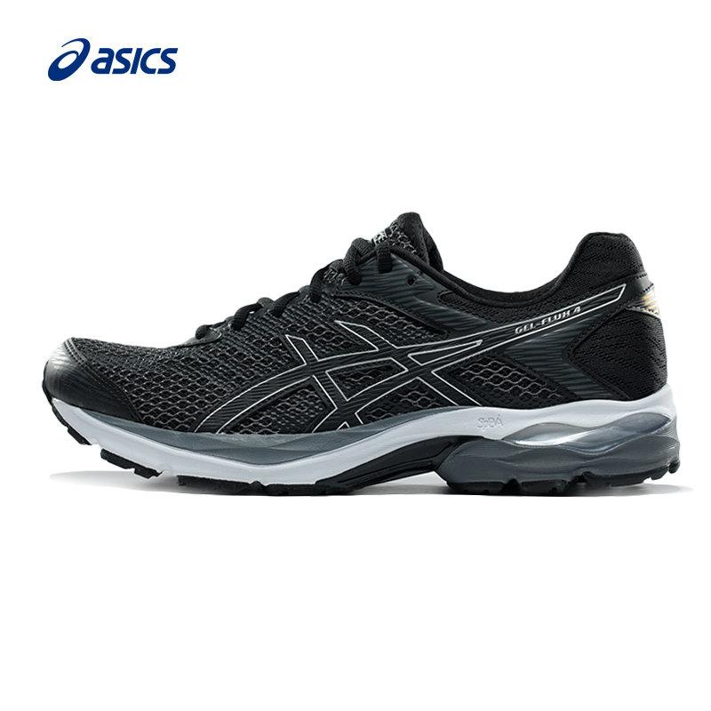 新款ASICS/亚瑟士轻量缓冲跑步鞋GEL-FLUX 4男款T714N-9790轻量缓冲跑步鞋