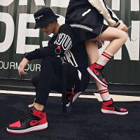 2018年秋冬款韩版潮流嘻哈情侣板鞋中帮鞋高邦运动鞋