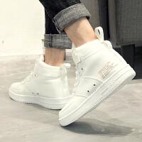 小白鞋男韩版秋季运动休闲鞋板鞋白色男鞋百搭高帮鞋高邦潮流鞋子