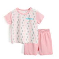儿童内衣套装纯棉宝宝睡衣短袖薄款插肩袖夏季婴儿衣服套装4864