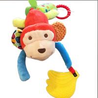 新生婴儿推车挂件 床铃床绕摇铃 宝宝0-3-6个月毛绒安抚益智玩具 猴子 带风铃