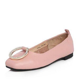 Tata/他她2018春专柜同款牛皮甜美水钻扣方头浅口女鞋2H002AQ8