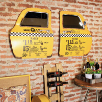 【支持礼品卡支付】美式LOFT工业风装饰壁挂复古铁艺壁饰车门酒吧墙面装饰墙壁挂件