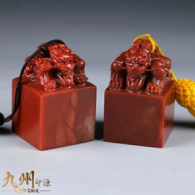 印章石料金石篆刻石料天然石头书法印章初学者寿山石浙江红双头兽