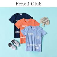 【3件2折:27.8】铅笔俱乐部童装2020夏装新款男童T恤中大童V领短袖儿童休闲半袖潮