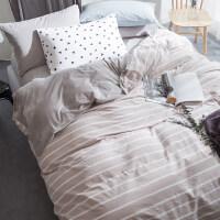 简约冬季水晶绒四件套1.8m米床单被套加厚保暖法莱绒1.5床上用品
