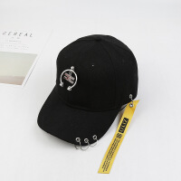 新款帽子男女士夏天遮阳帽户外嘻哈潮流鸭舌帽太阳带子棒球帽LCQ 可调节