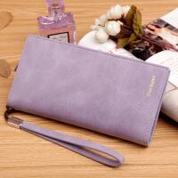 女士钱包手拿包长款韩版女式手包手机包钱夹大容量 男士钱包长款 钱包男短款 紫色228-2