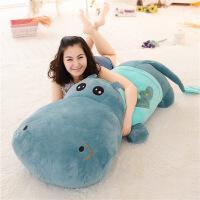 ?河马公仔抱枕靠垫大号睡觉鳄鱼毛绒玩具布娃娃玩偶生日礼物情人节