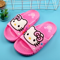 KT猫儿童夏季居家浴室拖鞋卡通凉拖鞋女童男童米奇防滑洗澡拖鞋