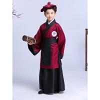 儿童书童演出服国学服装汉服古装幼儿园三字经弟子规孔子表演服装xx