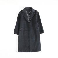 秋冬女中长款毛呢外套 西装领茧型韩版简约羊毛呢子大衣48C