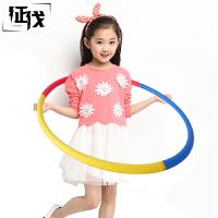 征伐 呼啦圈儿童泡棉艺术体操圈小学生成人女士健身圈中小器械体育用品 红黄蓝或红黄绿随机发