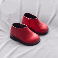 婴儿马丁靴宝宝靴子女1-3岁冬季新款小童棉靴加厚婴儿马丁靴加绒男宝宝短靴 TBP