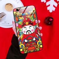 苹果6手机壳iphone6splus硅胶套玻璃招财猫六6s外壳全包6sp红色6p女款全包防摔ipon