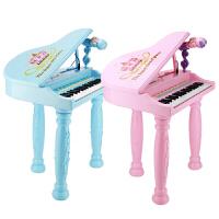 儿童电子琴玩具女孩早教音乐琴儿童玩具 彩盒耳机U盘版粉 话筒+椅+礼物+琴谱+琴键贴+