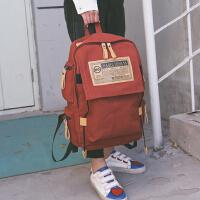 维多利亚玫莉秀潮流校园容量旅行背包学生大书包女韩男帆布双肩包