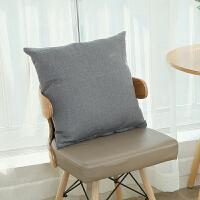 沙发亚麻靠枕套大号长方形抱枕套不含芯床头靠垫套50/65定做 深