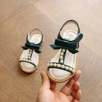 女童凉鞋夏季童鞋女中小童珍珠公主鞋宝宝沙滩鞋子儿童凉鞋女
