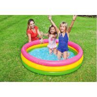 三环充气水池室内婴儿小孩圆形水池充气游泳池儿童宝宝家用大号戏水泳池