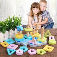 宝宝叠叠乐彩虹塔套圈玩具叠叠圈叠叠高婴儿玩具6-12个月早教