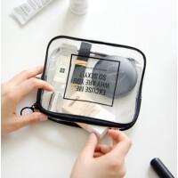 便携洗漱包男化妆包手拿包女防水透明整理包旅游出差用品装备s6 TPU化妆包「小号」
