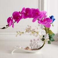仿真蝴蝶兰套装 假花装饰花中式餐桌家居客厅前台摆件花艺
