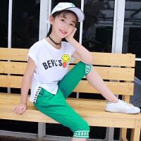 女童套装夏装童装韩版时尚潮衣儿童运动中大童短袖两件套