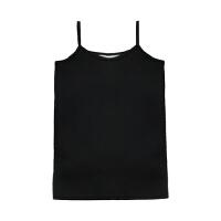 女装冬季2018新款加绒保暖黑色吊带小背心学生修身显瘦上衣打底衫