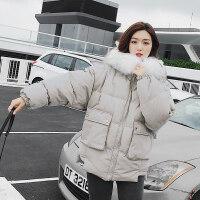刺绣ins面包服短款棉袄女冬装羽绒oversize学生外套