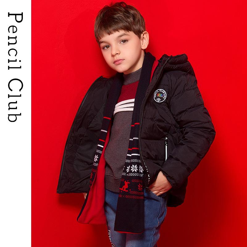 【3件价:149.7元】铅笔俱乐部童装2019冬季新款男童羽绒服中大童外套儿童加厚羽绒服