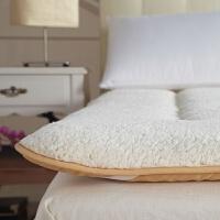 加厚铺被子双人厚款保暖羊羔绒床垫床褥子1.2 1.35 1.5 1.8X2米床 白色 羊羔绒
