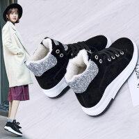 棉鞋女冬季2018新款保暖加绒韩版潮靴子学生百搭女鞋短筒雪地靴女