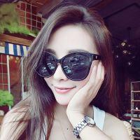 韩版大框大理石纹炫彩膜反光太阳镜女 5081猫眼墨镜 v牌太阳眼镜