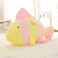 创意软体鱼抱枕公仔毛绒玩具沙发靠垫儿童玩偶仿真布娃娃 大号 80*45厘米