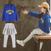 女童秋款套装韩版中大儿童时髦卫衣女孩两件套运动服潮衣