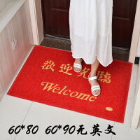 进门地垫丝圈门垫地毯入户大门口厅欢迎光临出入平安家用脚垫定制