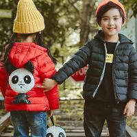 花样童依 童装棉衣2018新款加厚女童外套冬装短款男童中大童棉袄面包服