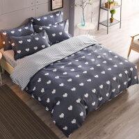 床单三件套 被套纯棉学生宿舍单人1.2米床上三件套床品被罩0.9m床