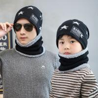 男童帽子儿童围脖围巾套装帽子秋冬男孩护耳毛线帽男士帽子