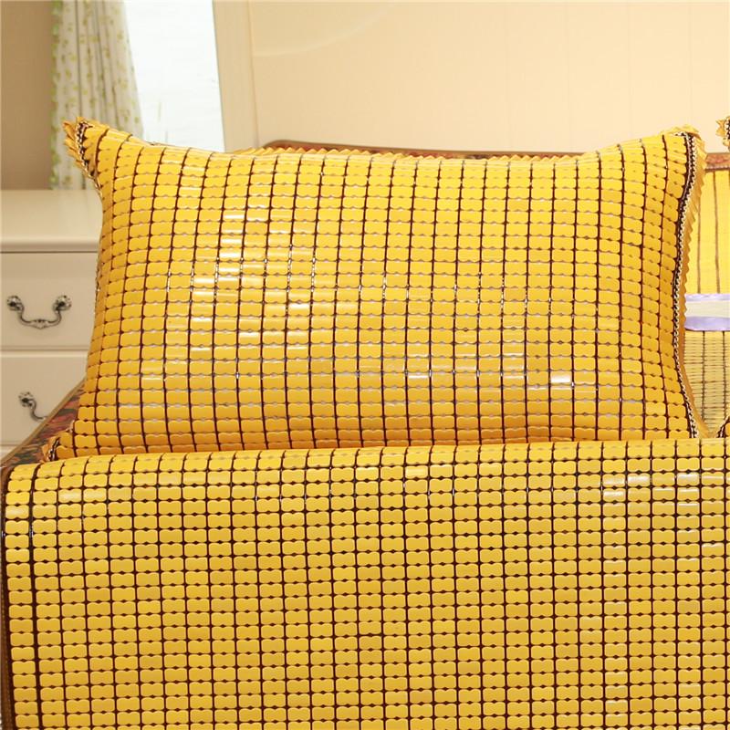 麻将凉席大枕头抱枕套碳化竹凉席靠枕麻将席枕头套单人双人长枕套