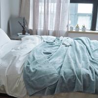 ???日本纯色法兰绒小毛毯 秋冬双人珊瑚绒毯子空调午睡毯子单人