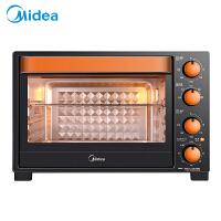 美的(Midea)电烤箱 T3-L326B 32L 机械式 多层烤位 上下独立控温 旋转烧烤 多角度反射内胆 广域温区