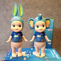 丘比特索尼天使娃娃艺术家系列 兔子大象蓝色海洋摆件 Sonny Angel蓝色海洋 一套两只