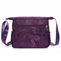 紫色黑色2017新款防水尼龙包单肩斜挎包女士潮流帆布包牛津布