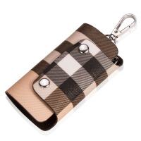 多功能钥匙包 男女式钥匙扣 格纹锁匙包 汽车钥匙包