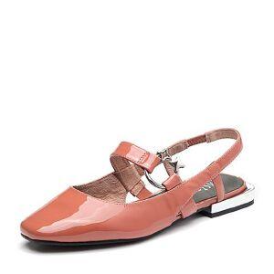BASTO/百思图2018夏季专柜同款牛皮革漆皮简约纯色女凉鞋RMM04BH8