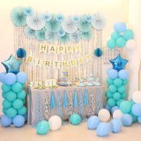 儿童生日周岁百天装扮布置气球套餐派对主题甜品台背景墙装饰用品