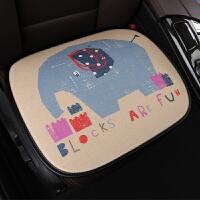 卡通汽车座套新款春夏季亚麻坐垫女四季通用小车专用全包围座椅套SN2444